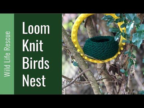LOOM KNITTING Birds Nest on Round Loom Wildlife Animal Rescue Loomahat 231 LOOM KNITTING Birds Nest on Round Loom Wildlife Animal Rescue Loomahat  YouTube