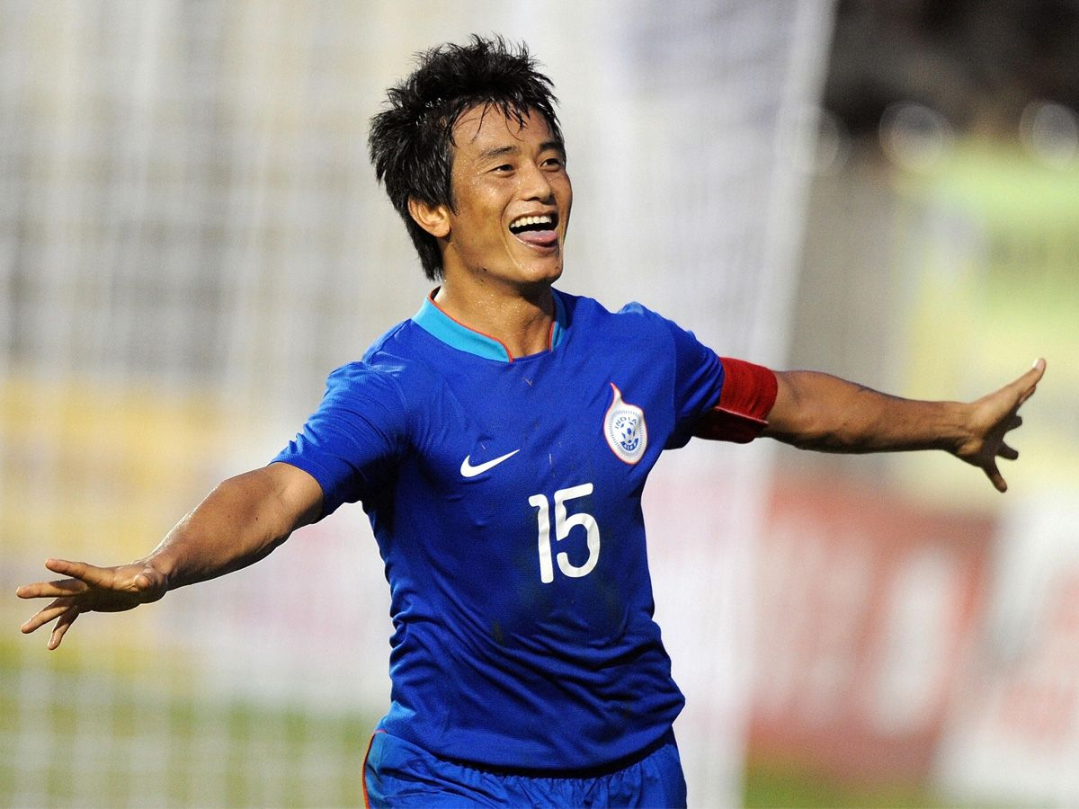 Baichung Bhutia Famous Football Player Of India Player Football Speed Famous Footballshoes Winner Sports Footballprod Football Stadiums Football Sports