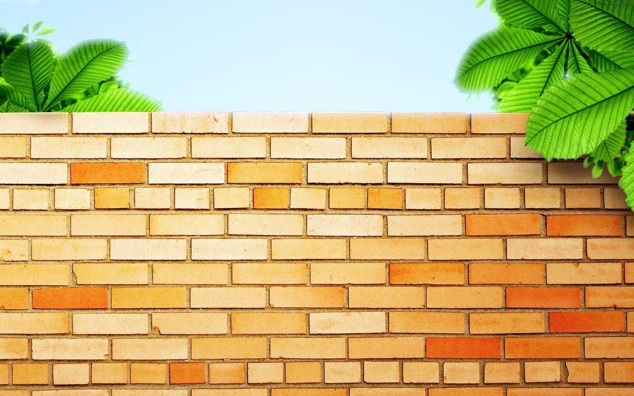Cartoon Brick Wall Background