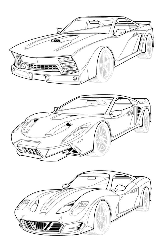 By Maung Thuta Some Imaginary Cars I Had To Design For A Comic