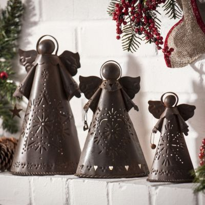 Bronze Angel Candle Holders, Set of 3 | Kirkland's  these would be beautiful in the kitchen
