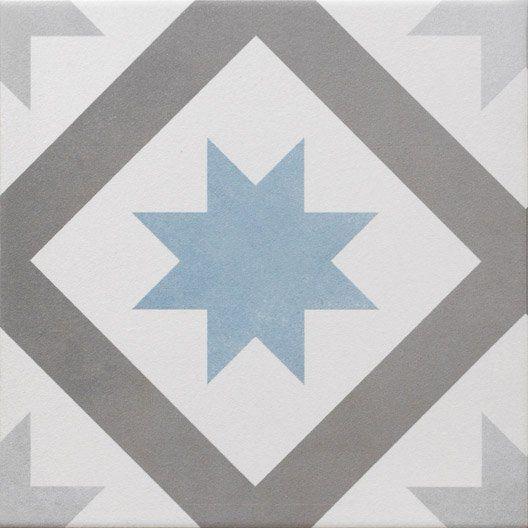 Carrelage Sol Et Mur Gris Fonce Bleu Baltique Effet Ciment Gatsby L 20 X L 20 Cm Murs Gris Fonce Carrelage Sol Carreaux De Ciment Salle De Bain