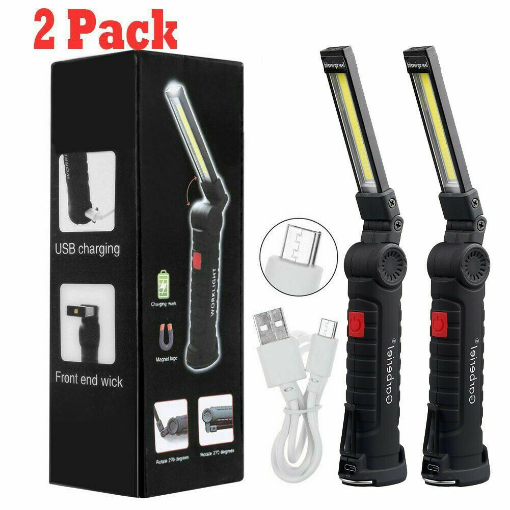 Magnetic Rechargeable Cob Led Red Work Light Lamp Flashlight Folding Torch Work Lights Rechargeable Work Light Lamp Light