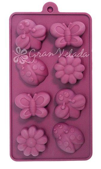 Rosa De Flor Silicona Molde Pastel Decoración Molde de cera se derrite hielo chocolate reposterìa