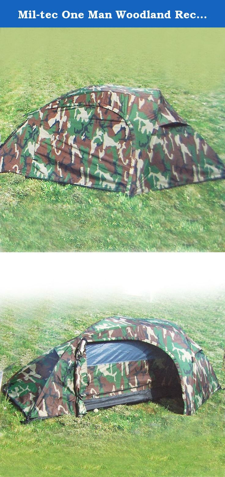 These tents are suitable for more extreme conditions they are double skinned providing extra ...  sc 1 st  Pinterest & Mil-tec One Man Woodland Recon Tent. Sturdy and storm proof double ...