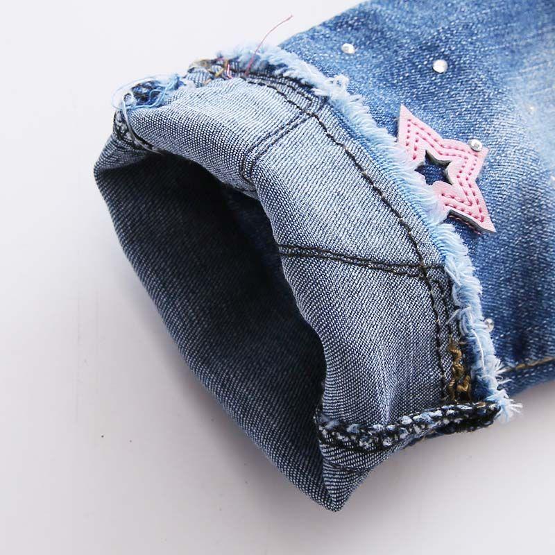 Autumn Spring Baby Girls Vintage Denim Jeans Sweet 5 Pointed Star Kids Pants Full Length Trousers Roupas De Bebe Kid Shop Global Kids Baby Shop Online B In
