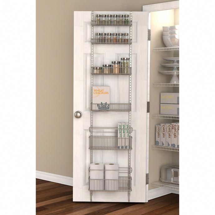 Pantry Organizer Bed Bath And Beyond: .ORG Premium Over-the-Door Steel Frame Pantry Organizer