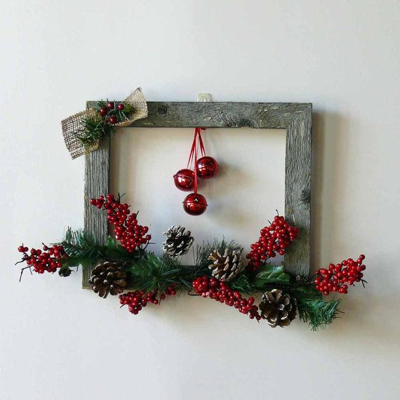 Shiny Red Jingle Bells Weathered Barn Wood by SnowmanCollector