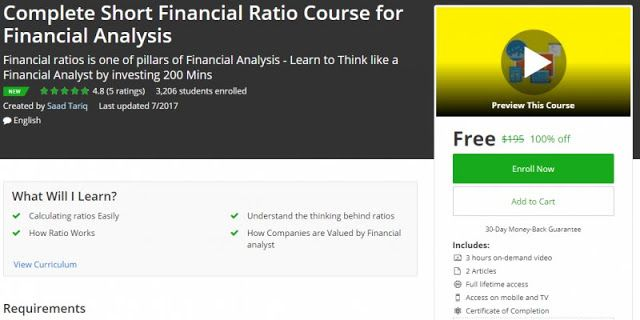 Off Complete Short Financial Ratio Course For Financial