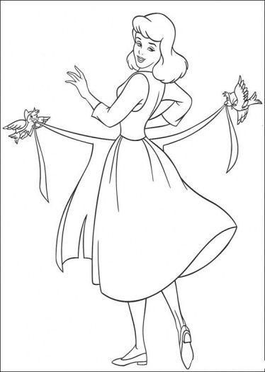 Lady Bird Cinderella Coloring Pages Princess Coloring Pages Coloring Pictures