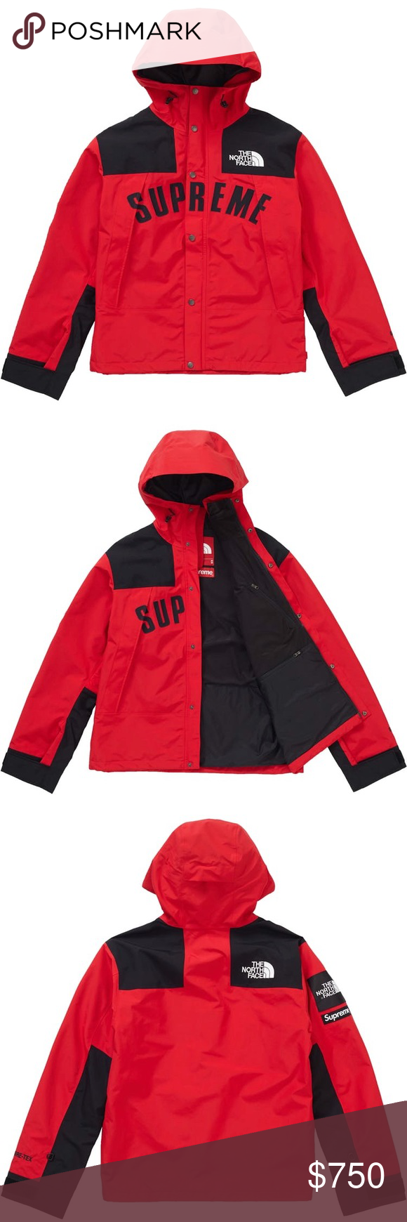 Brandnew! Supreme The NorthFace Arc logo mountain! Red and