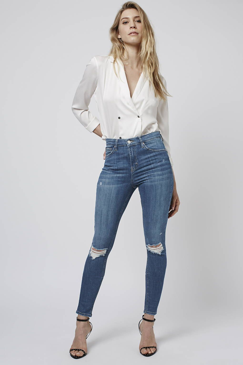 MOTO Authentic Rip Jamie Jeans - Jeans - Clothing - Topshop