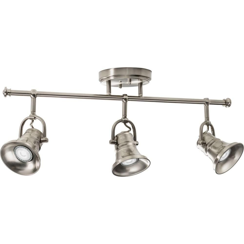 Lithonia lighting flared skirt 3 light brushed nickel track lighting lithonia lighting flared skirt 3 light brushed nickel track lighting fixture with led bulbs track lighting fixtures lithonia lighting and brushed nickel aloadofball Choice Image