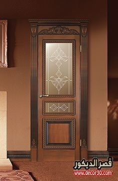 ديكورات ابواب خشب داخلية Interior Wood Doors Decorations قصر الديكور Modern Wooden Doors Bedroom Door Design Wooden Main Door Design