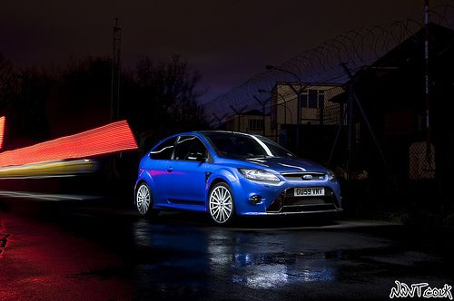 Ford Focus Rs Mk2 Performance Blue Long Exposure Collaboration