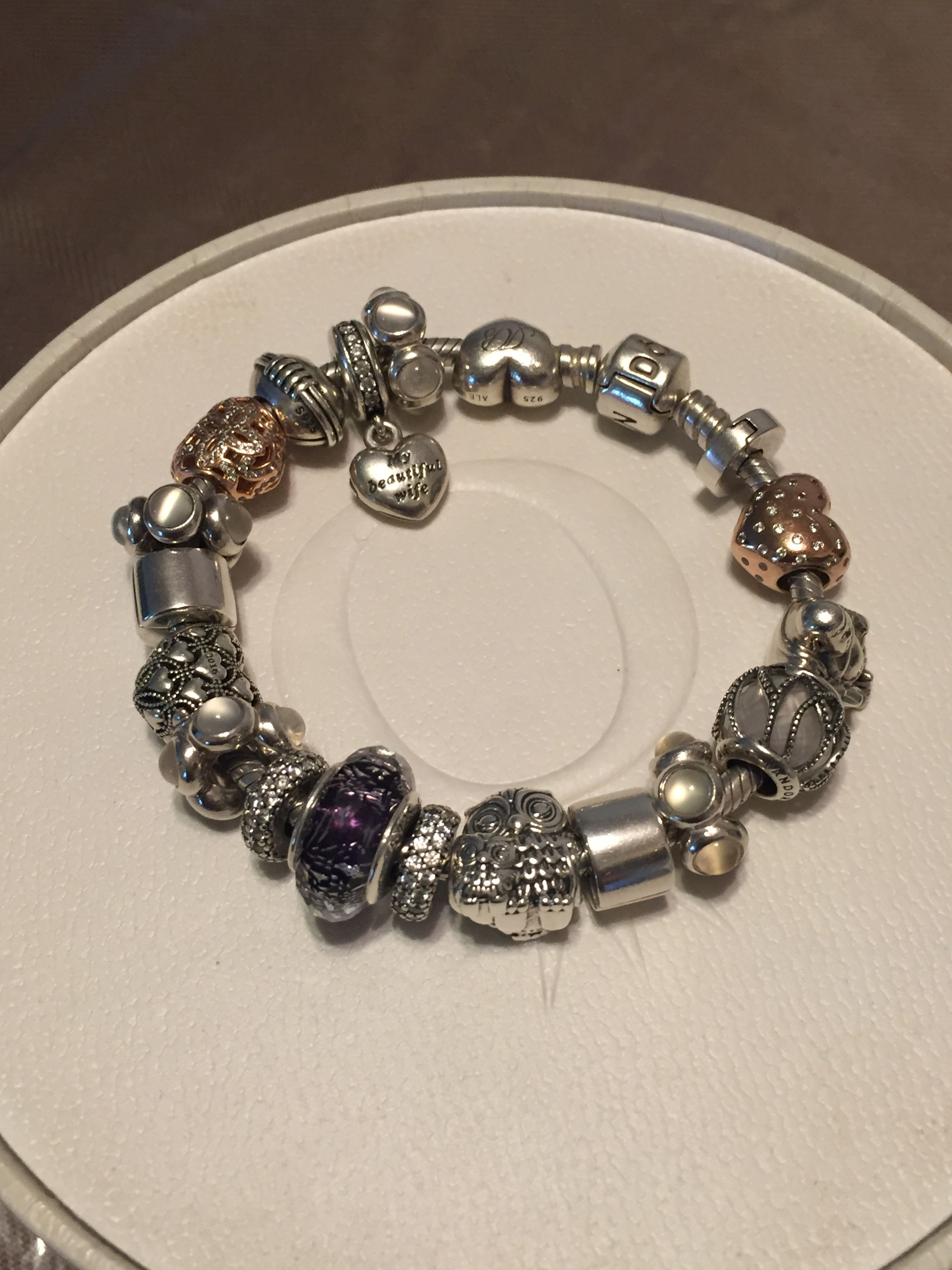 e9969184f Pandora Fall 2016 bracelet. Purple Shimmer, Charming Owls and Intertwining  Radiance