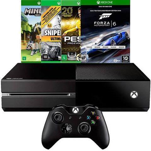 c6763a0d69 Americanas Console Xbox One 500GB + 4 Jogos + Headset com Fio + Controle  Wireless - R  1890 no boleto