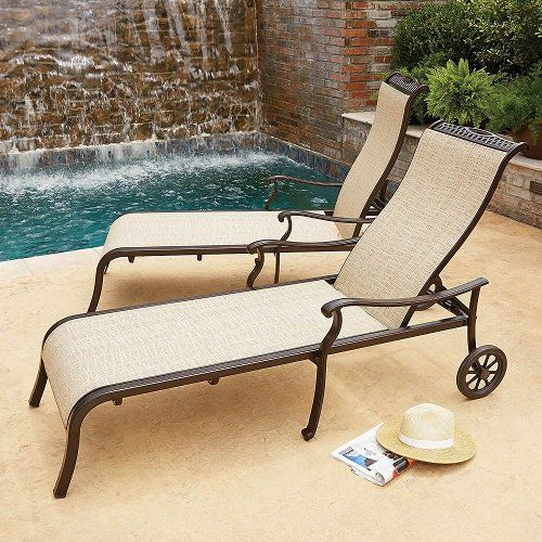 Member S Mark Sling Chaise Lounger 287 98 Fs Sling Chaise Patio Chairs Chaise Lounger