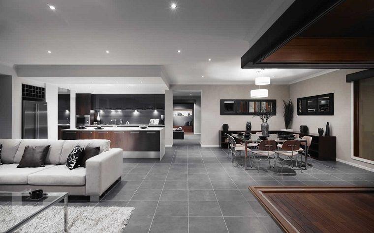 Salone con angolo cottura ampio design moderno arredamento d