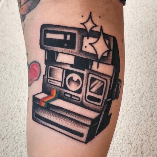 Polaroid Tattoos Tattoo Artists Inked Magazine Camera Tattoos Tattoos Traditional Tattoo Camera