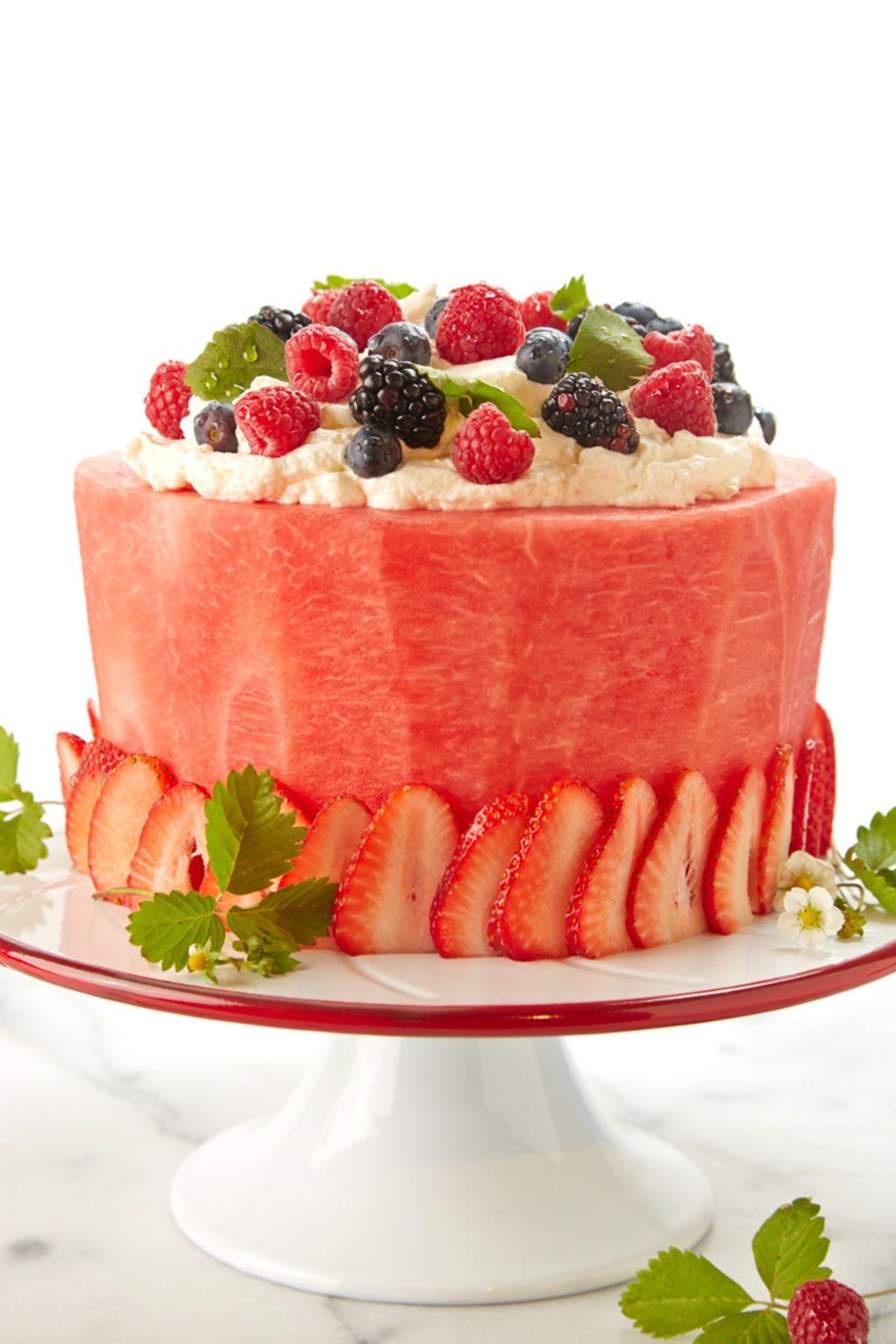 Fantastic Watermelon Cake Recipe Fruit Birthday Cake Fresh Fruit Cake Funny Birthday Cards Online Bapapcheapnameinfo