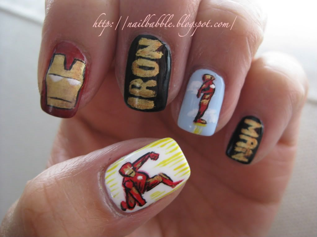 Iron man Nails! Sweet! | Nail Art! | Pinterest