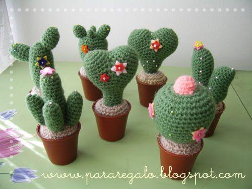 Amigurumi Cactus Tejido A Crochet Regalo Original : Mari gurumis y algo más cactus varios ganchillo