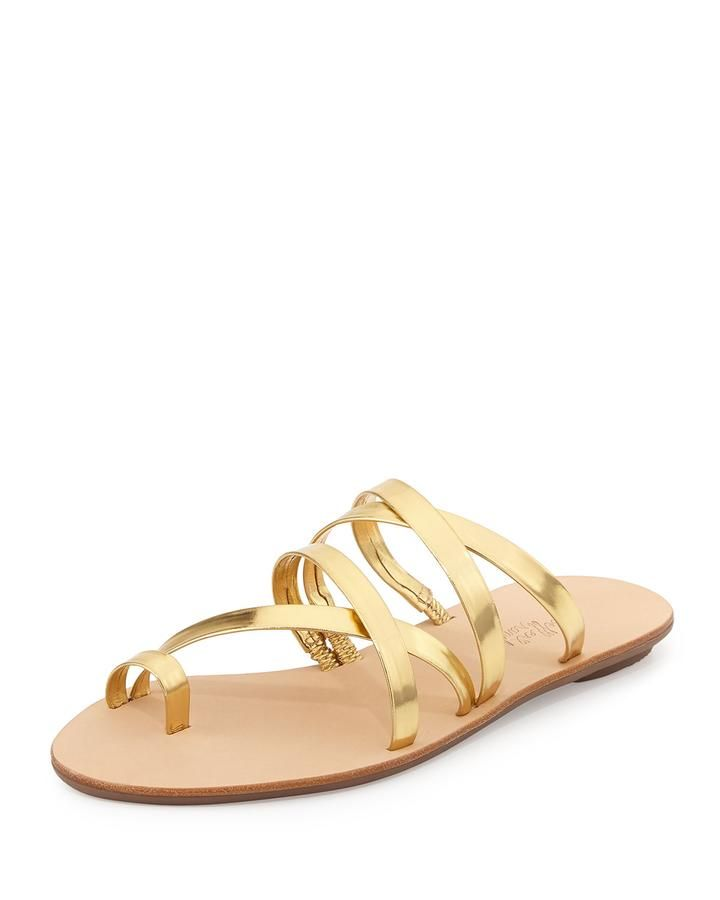 Sarie Metallic Leather Sandal