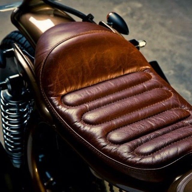 beardbrand: leather motorcycle seat. | bikes | pinterest