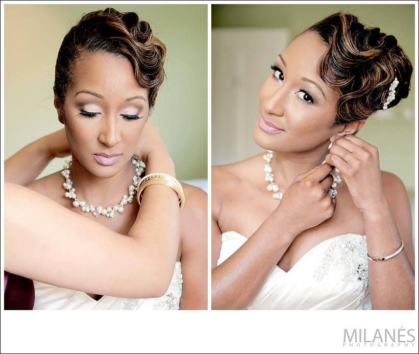 Sensational 1000 Images About Wedding Hairstyles On Pinterest Black Women Hairstyle Inspiration Daily Dogsangcom