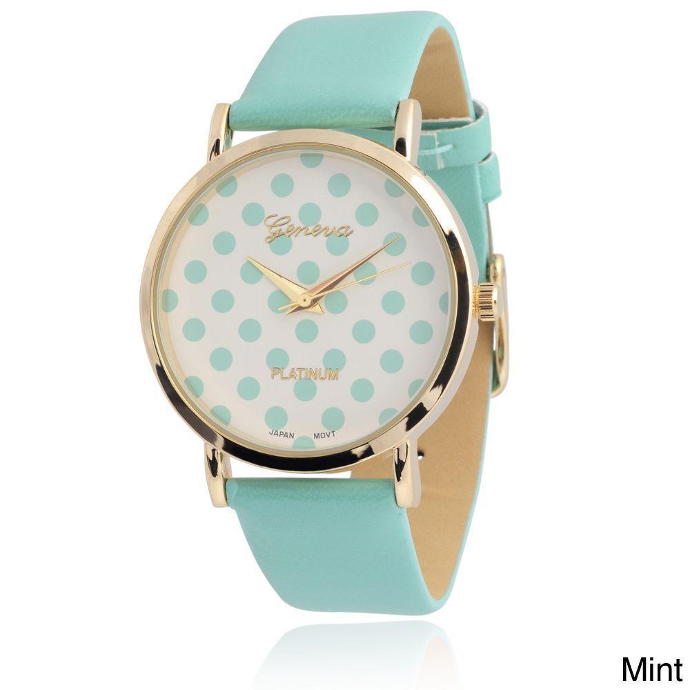 353af198738 Geneva Platinum Women s Polka-dot Dial Watch