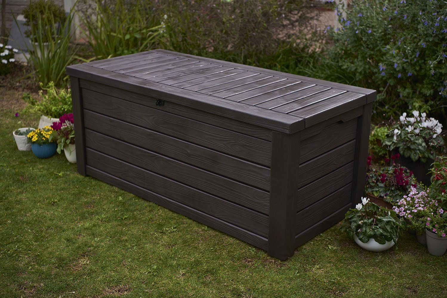 Pinitforlater Findoutmore Deck Box For Patio Cushions Keter