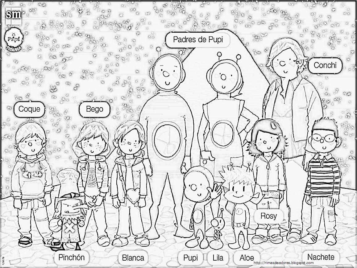 Dibujos de la familia para colorear en inglés - Imagui   `~Time to ...