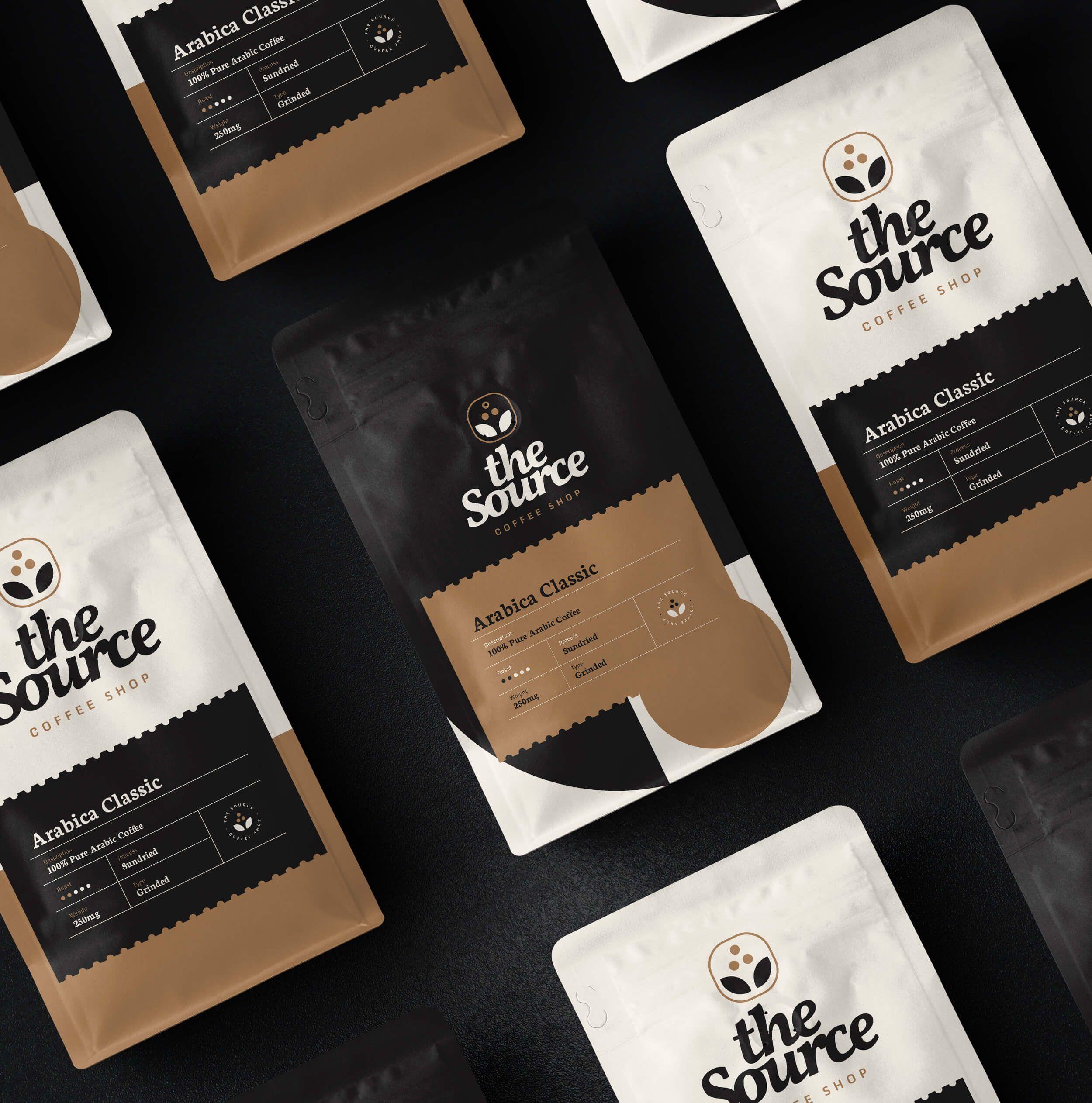 Estúdio Kuumba The Source Coffee Shop Brand Identity