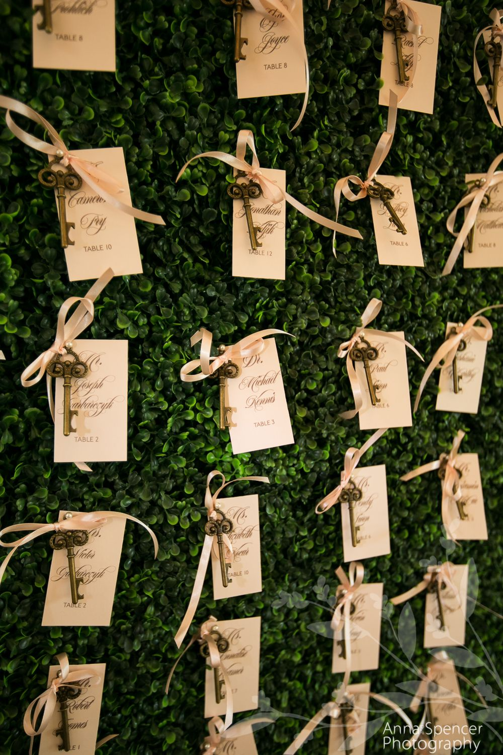 Secret Garden Theme Wedding And Key Guest Seating Chart Wall