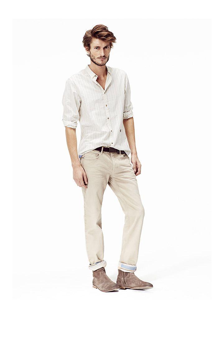 Chemise homme et pantalon beige : Vêtements homme été ...