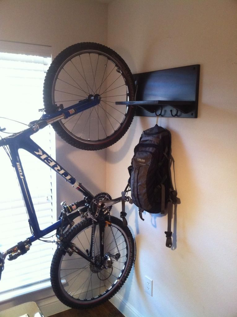 best vertical wall bike hanger page 2 mtbr com bike on wall hanger id=90773