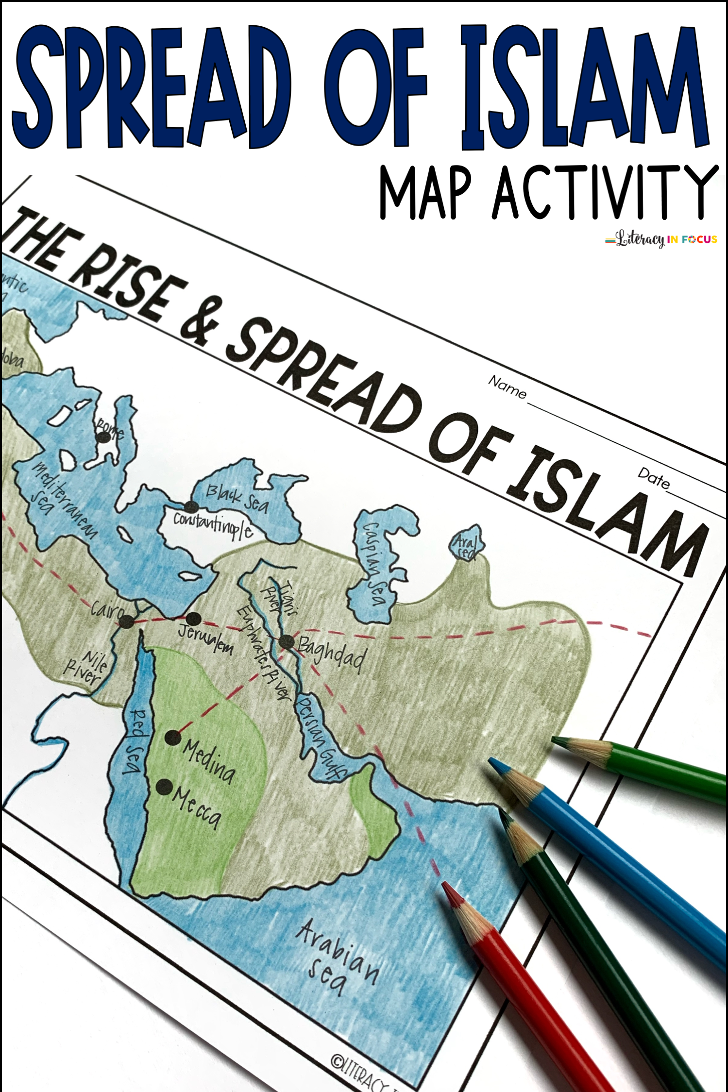 Islam Map Worksheet
