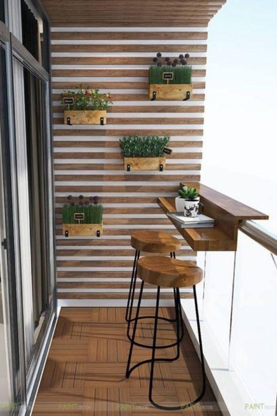 Balcon bar #smallbalconyfurniture Toutes nos astuces pour aménager un espace repas sur un petit balcon. #balcon #repas #bar #été - #amenager #astuces #balcon #espace #repas #smallbalconyfurniture #toutes - #dekoration #balconybar