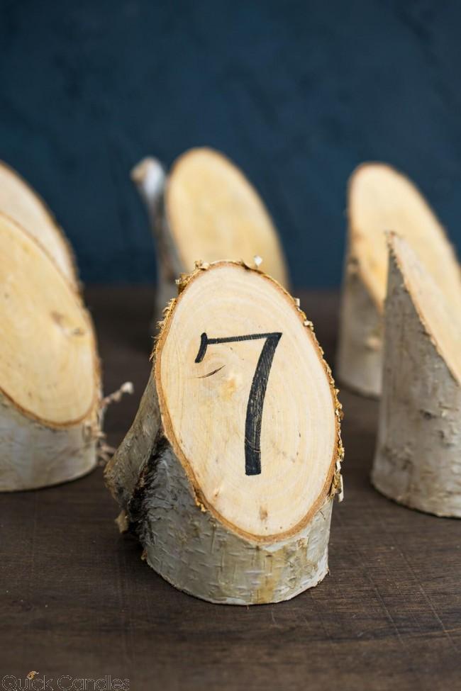 Birch Forest Placecard (6 pieces) 4.75, Natural Birch