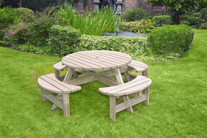 Excellent Woodshaw Appleton Round Picnic Bench Simply Wood Andrewgaddart Wooden Chair Designs For Living Room Andrewgaddartcom