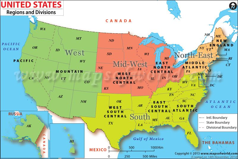 US Political Regions Th Grade Social Studies Lessons - Us map with north south east west