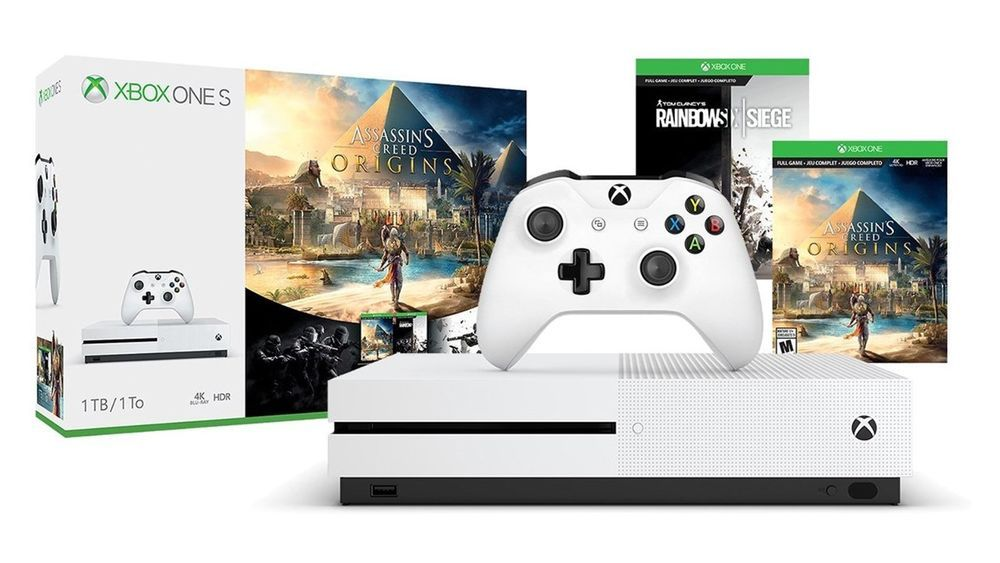 Microsoft Xbox One S 1tb Assassins Creed Bundle Brand New