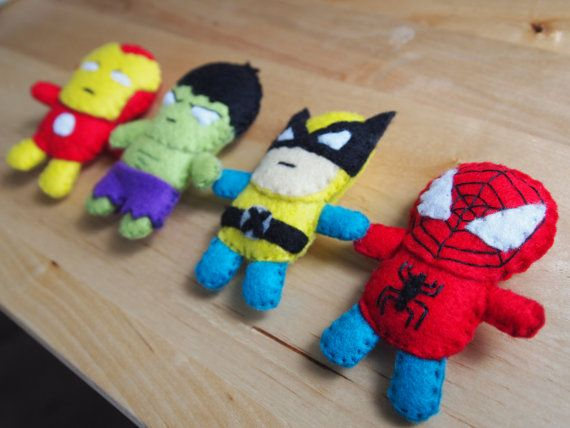 Felt Spiderman Mini Plush. £5.00, via Etsy.