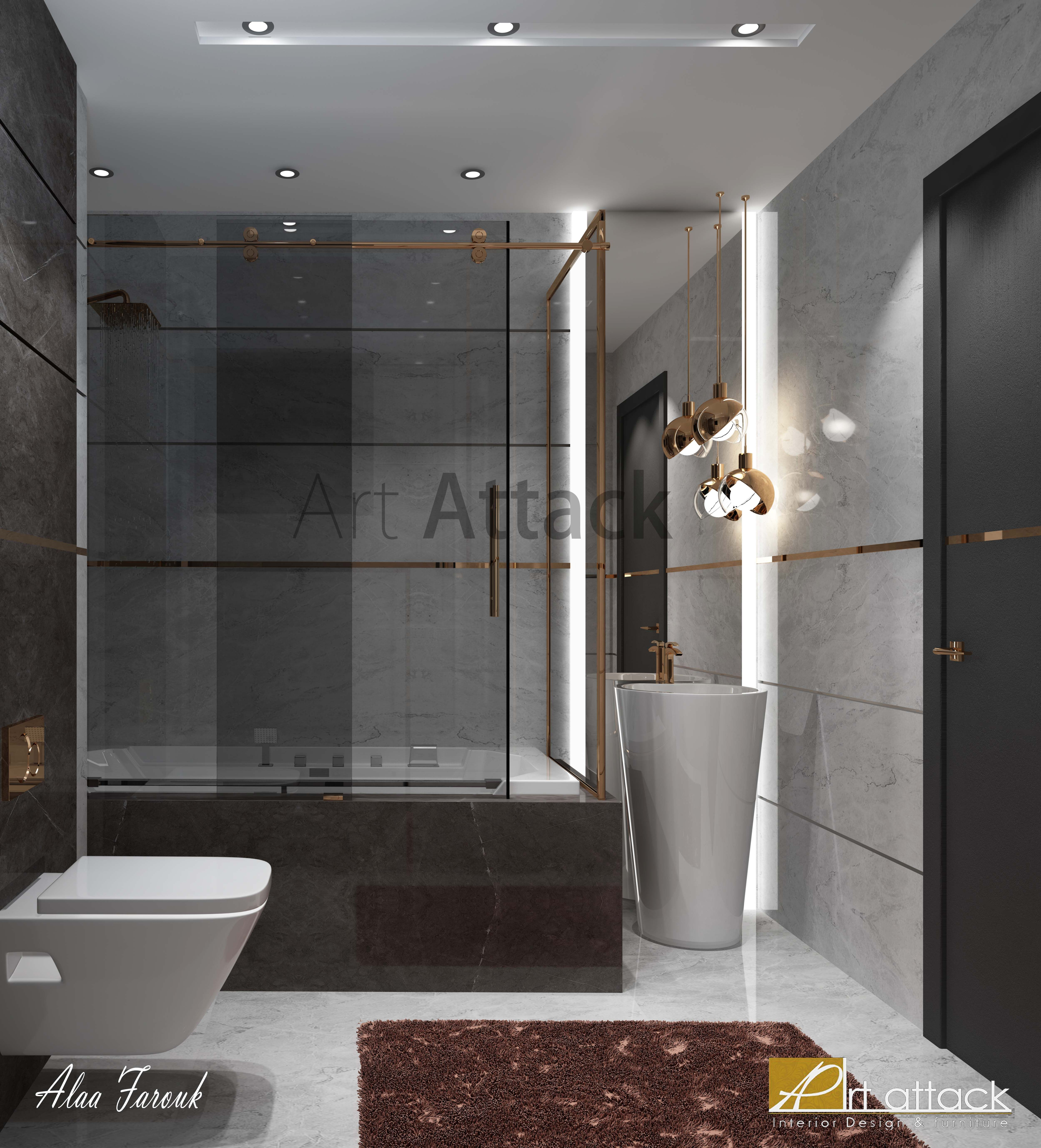Interior Design Design Art Attack My Room شقق سبا باشا مودرن تصميم تصميم داخلي Apartment Decoration Decor Luxurydesign Modern Dr Bathroom Bathtub