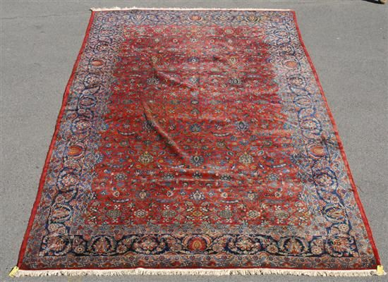 Grogan and Company | MANCHESTER KASHAN CARPET, Persia, circa 1915  15 feet 1 inch x 9 feet 2 inches