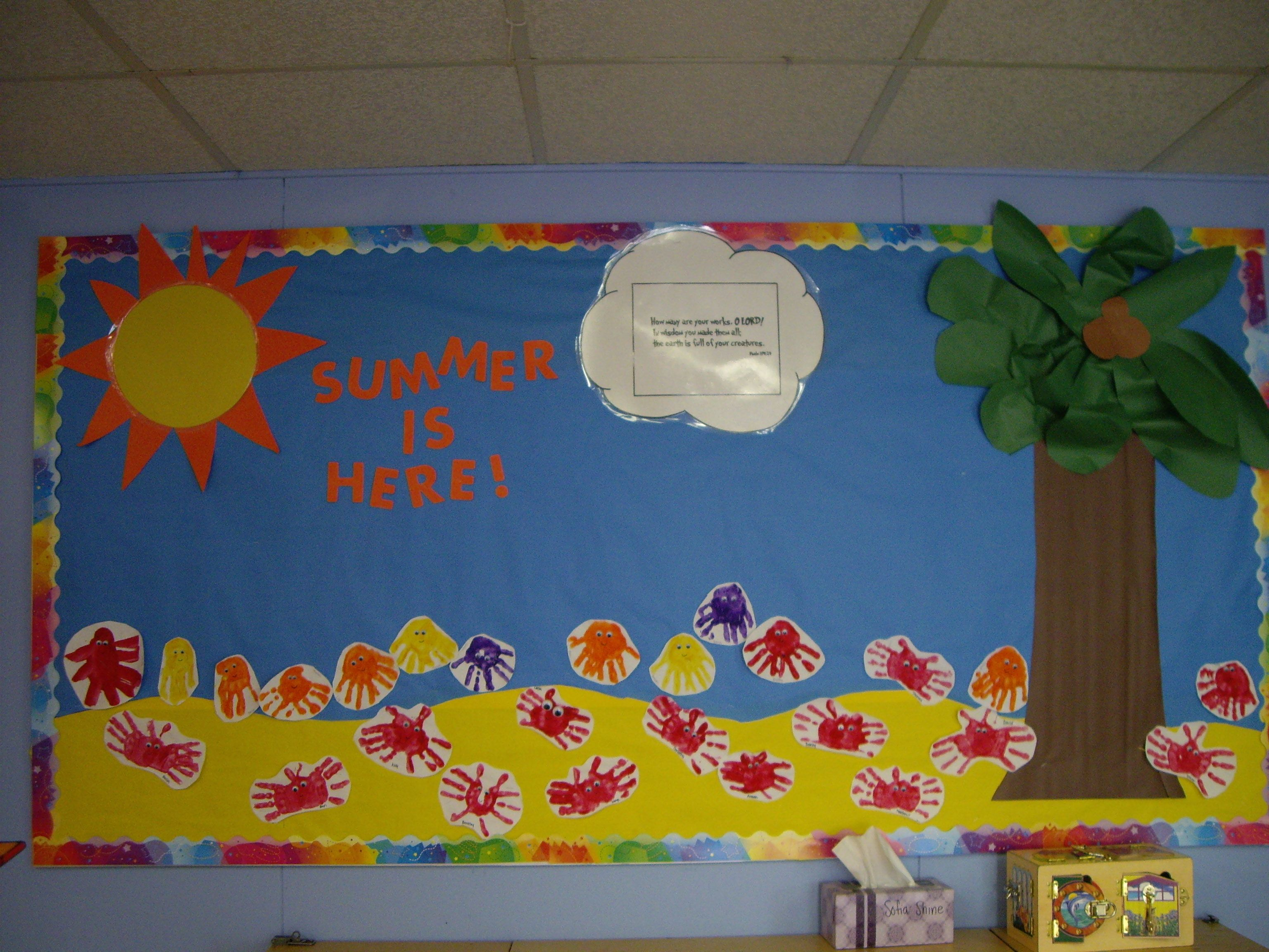 Summer Themed Classroom Decorations : Fun summer bulletin board boards ideas
