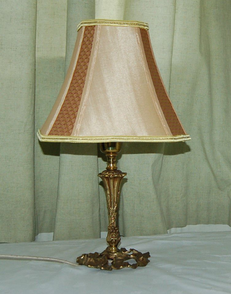 Elegant Elegant And Stunning Vintage Ornate Gold Table Lamp Base And Shade | EBay