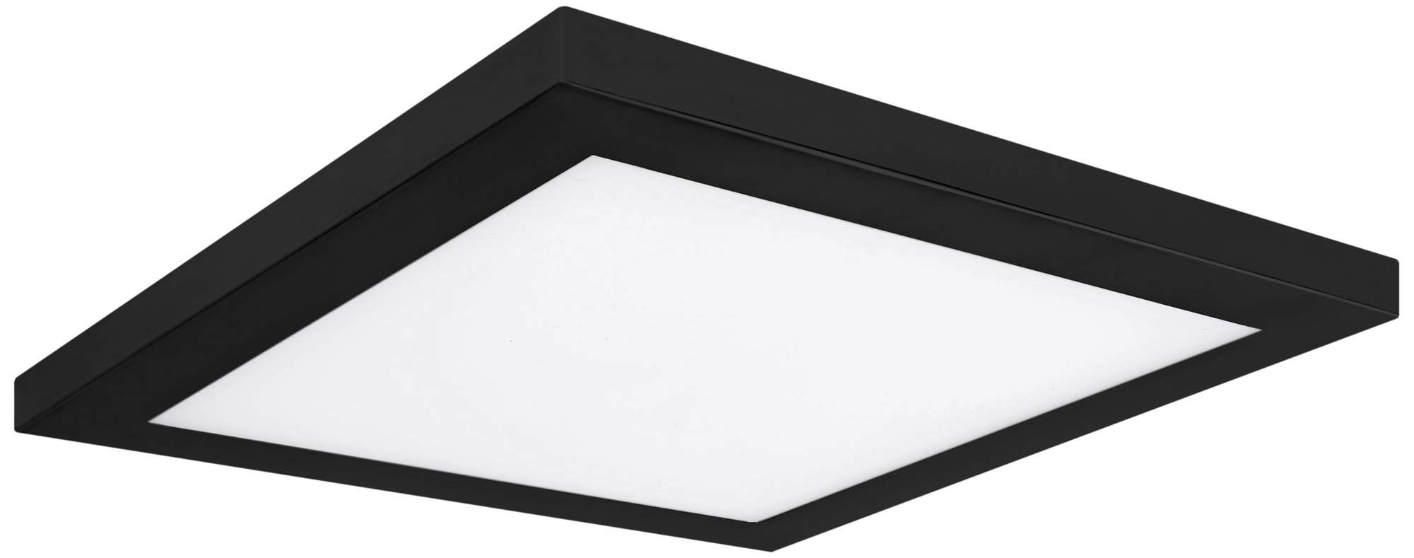 Platter 10 Inch Square Black Led Outdoor Ceiling Light W Remote Outdoor Ceiling Lights Ceiling Lights Contemporary Outdoor Lighting
