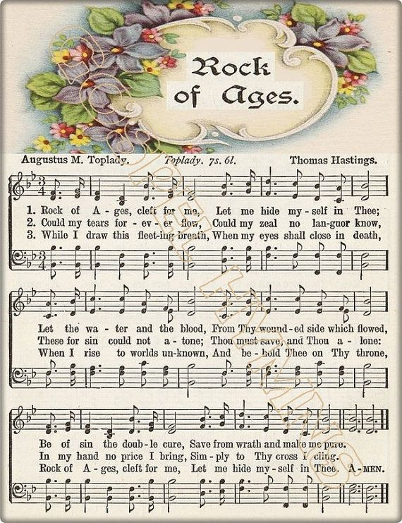 10 Favorite Hymns Sheet Music Rock Of Ages Love By Gospelhymns